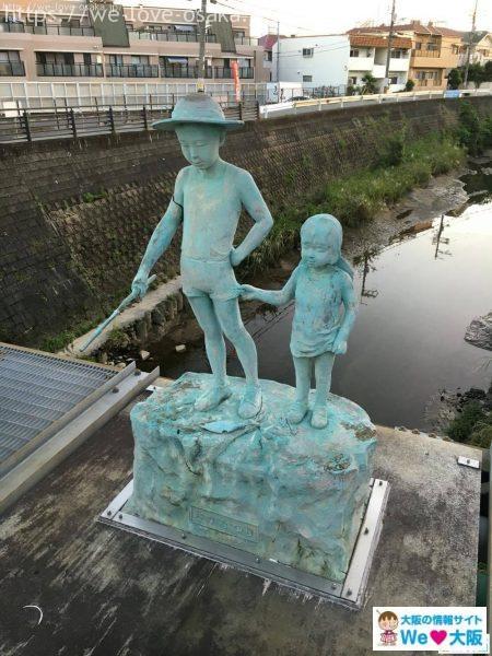 千里川銅像