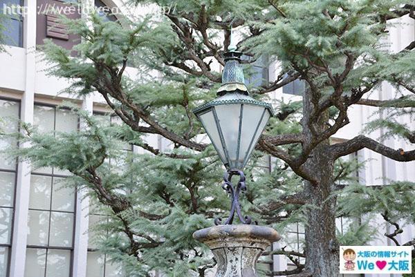 創業当時のガス燈