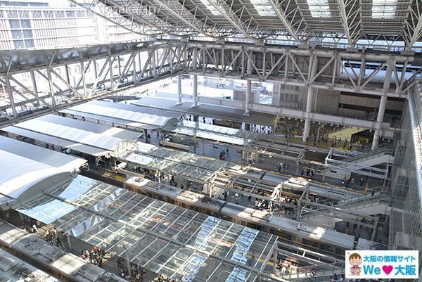 大阪駅プラットホーム