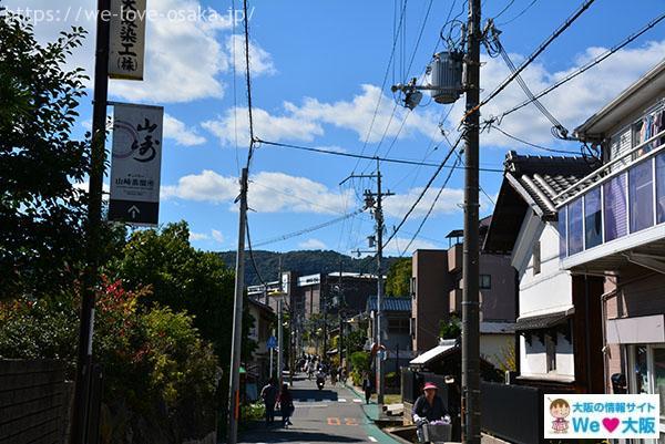 山崎駅の道