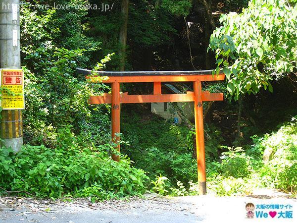 岩船神社 白龍の滝 赤い鳥居
