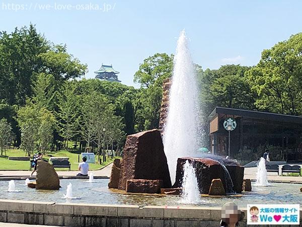 大阪城公園 噴水広場