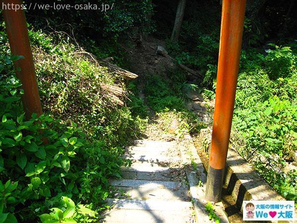岩船神社 白龍の滝 赤い鳥居②