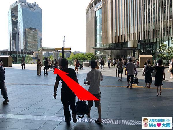 JR大阪駅グランフロント通路2階