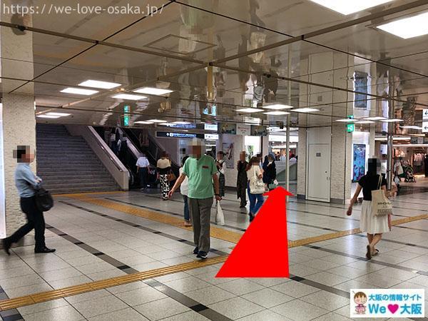 御堂筋線 阪急電車 通路②