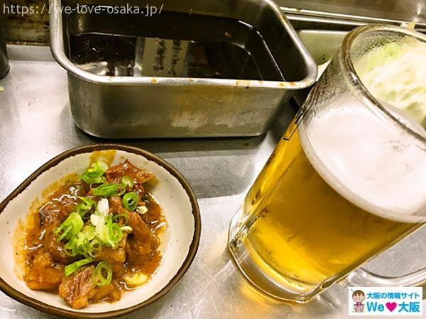 京橋 まつい土手煮とビール
