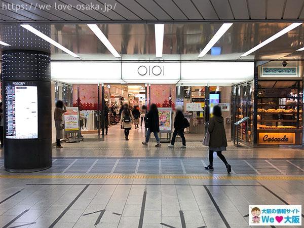 大阪メトロなんば駅 南南改札 左側 マルイ入口