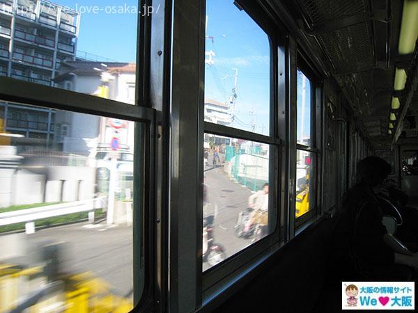 京阪電車 窓