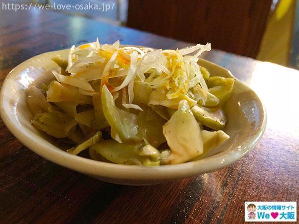 上海食亭 ザーサイと白髪葱の和え物