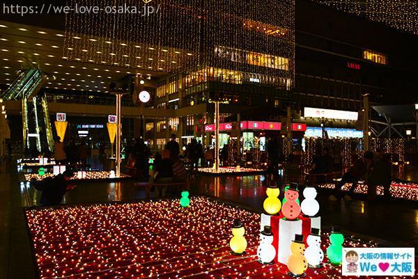 大阪ステーションシティ雪だるま