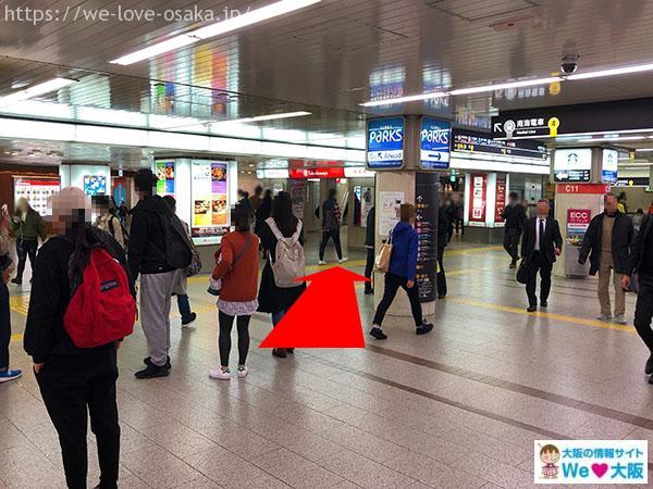 大阪メトロなんば駅 南南改札 右側