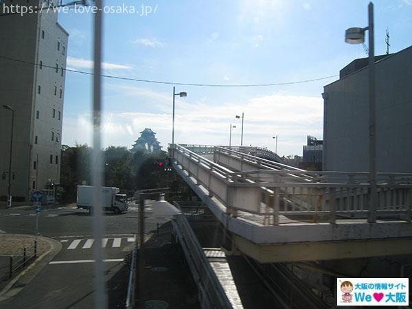 京阪電車 車窓からの大阪城
