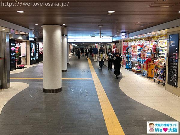 大阪メトロなんば駅 北東改札 中央奥