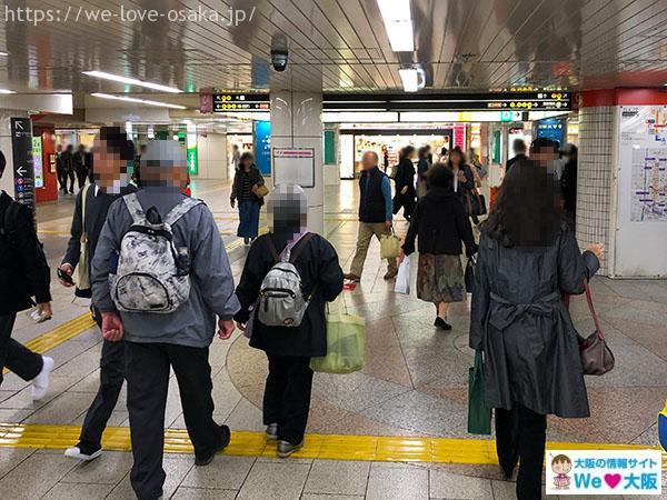大阪メトロなんば駅 北東改札 右側