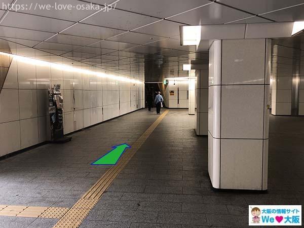 アクセスJR難波駅 湊町リバープレイス通路②