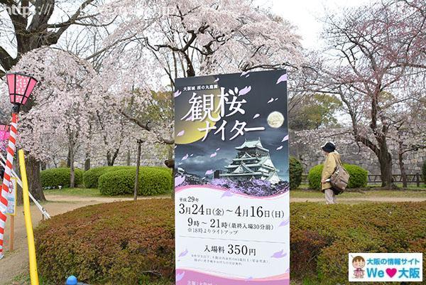 西の丸公園 観桜看板