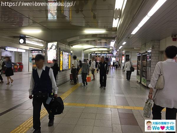 中改札阪急へ