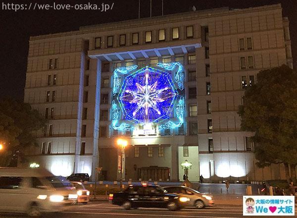 大阪市庁舎 イルミネーション