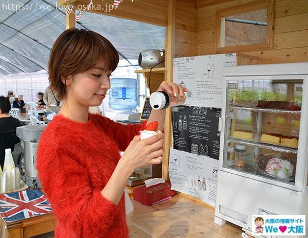 たなかの苺 ソフトクリーム②