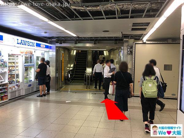 大阪メトロ御堂筋線梅田駅 中南改札からJR大阪駅へ②