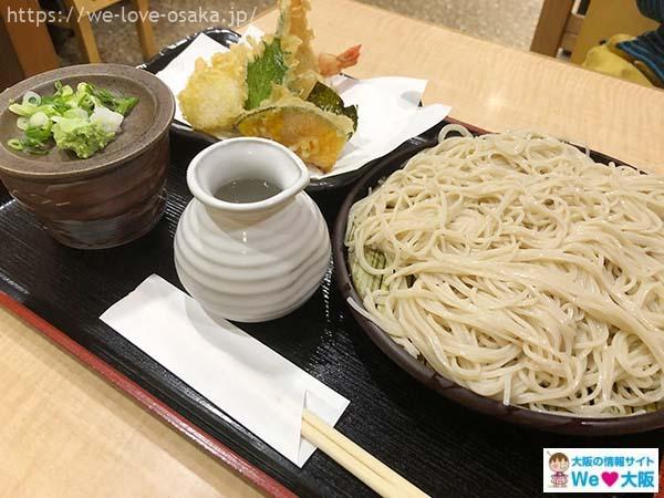繁昌そばの天ぷら蕎麦
