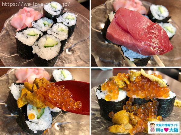 豪快立ち寿司料理