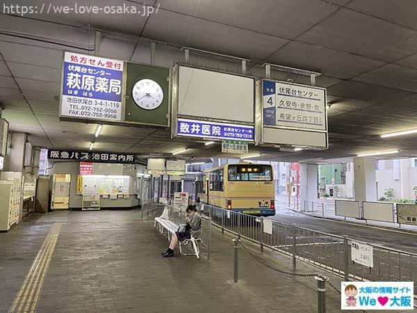 池田駅バス西のりば