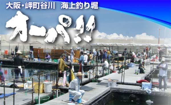 大阪釣り初心者海上釣り堀オーパ